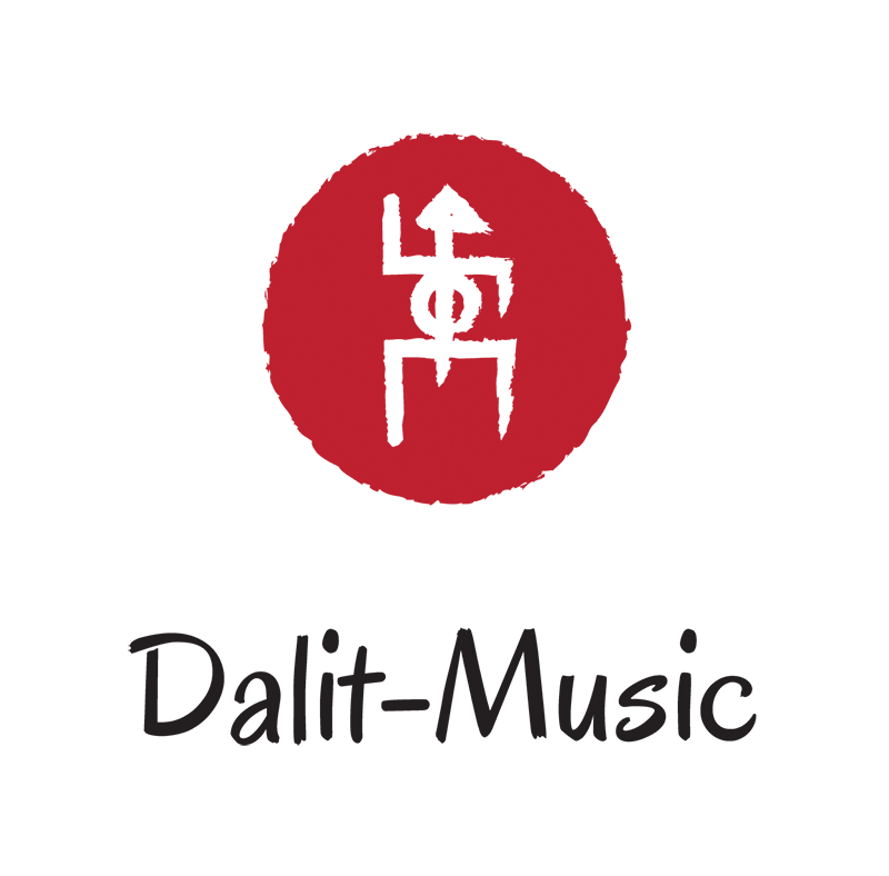 Dalit Music logo red vertical no background in symbol